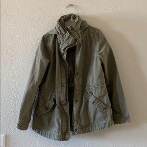 Roxy Army Green Hooded Jacket
